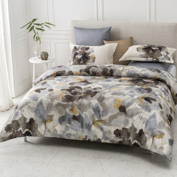 Silvana Anti-Wrinkle 100% Organic Cotton Reversible Duvet Cover Set by House of Hampton